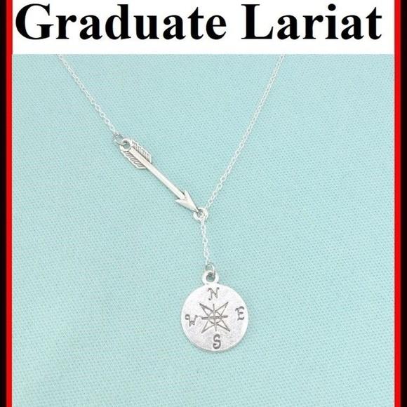 d89af84777fc3 Gorgeous Arrow n Compass Lariat Style Necklace.